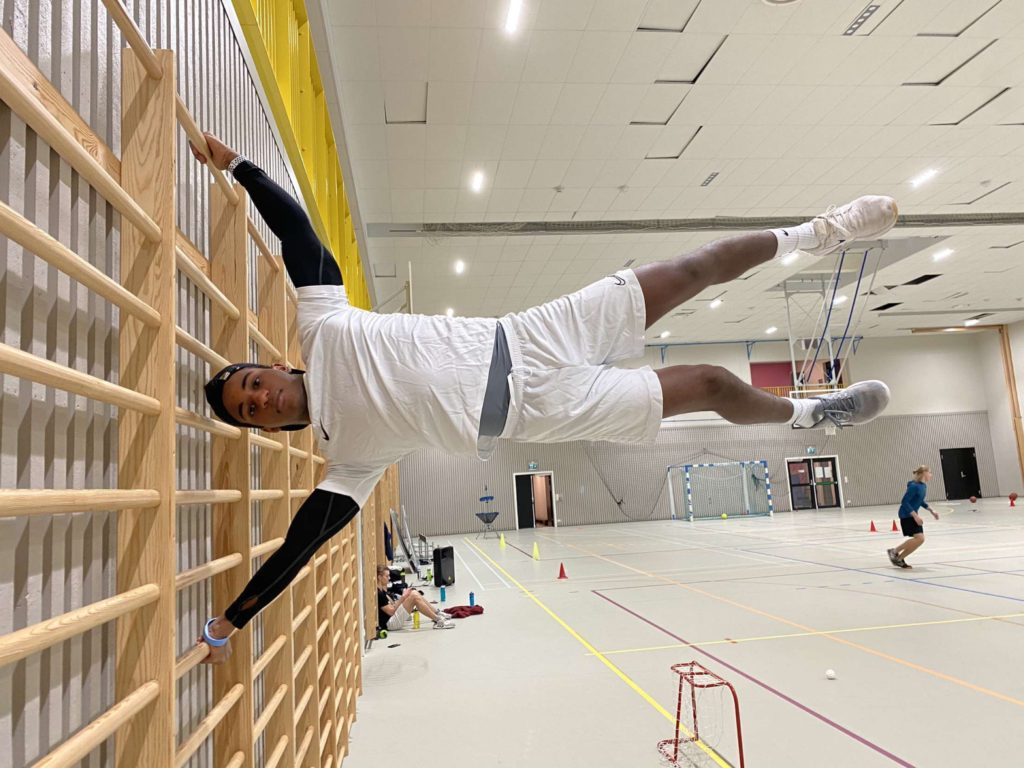 ribbevegg, Khalid, gym, Rønningen folkehøgskole