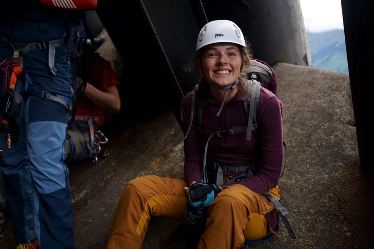 Nathalie Bergh, klatreutstyr, smiler